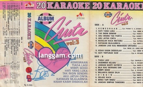 20 Karaoke Album Cinta Vol 3