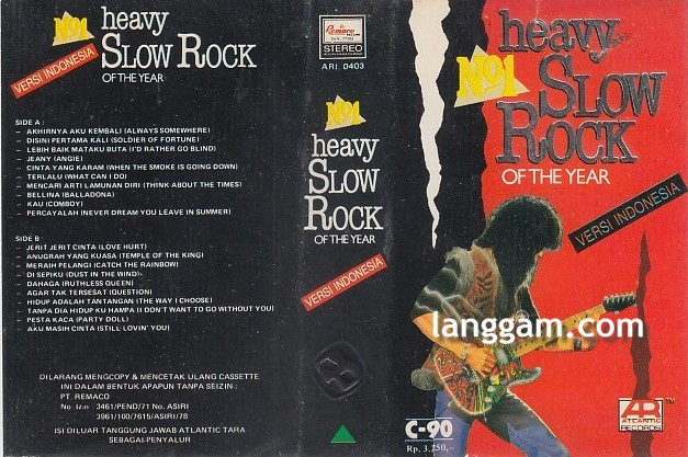 No. 1 Heavy Slow Rock of The Year Versi Indonesia