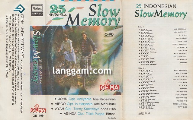 25 Indonesian Slow Memory