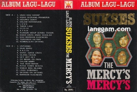 Album Lagu-Lagu Sukses The Mercy's