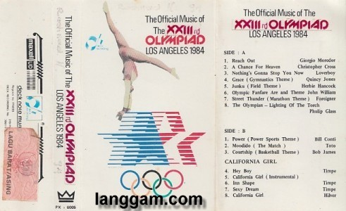 The Official Music of The XXIIIrd Olympiad Los Angeles 1984