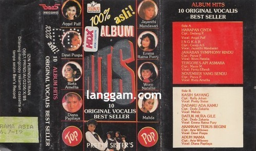 10 Album Hits Original Vocalis Best Seller