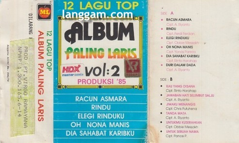 12 Lagu Top Album Paling Laris Vol 2 - Click Image to Close