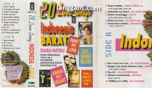 20 Love Songs Indonesia Barat