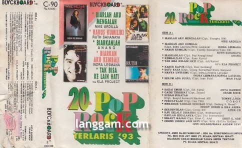 20 Pop Rock Terlaris '93
