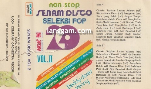 20 Nonstop Senam Disco Seleksi Pop Vol 2